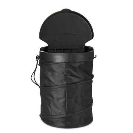 pop up leakproof car trash can multi purpose car garbage holder for traveling black collapsible. Black Bedroom Furniture Sets. Home Design Ideas