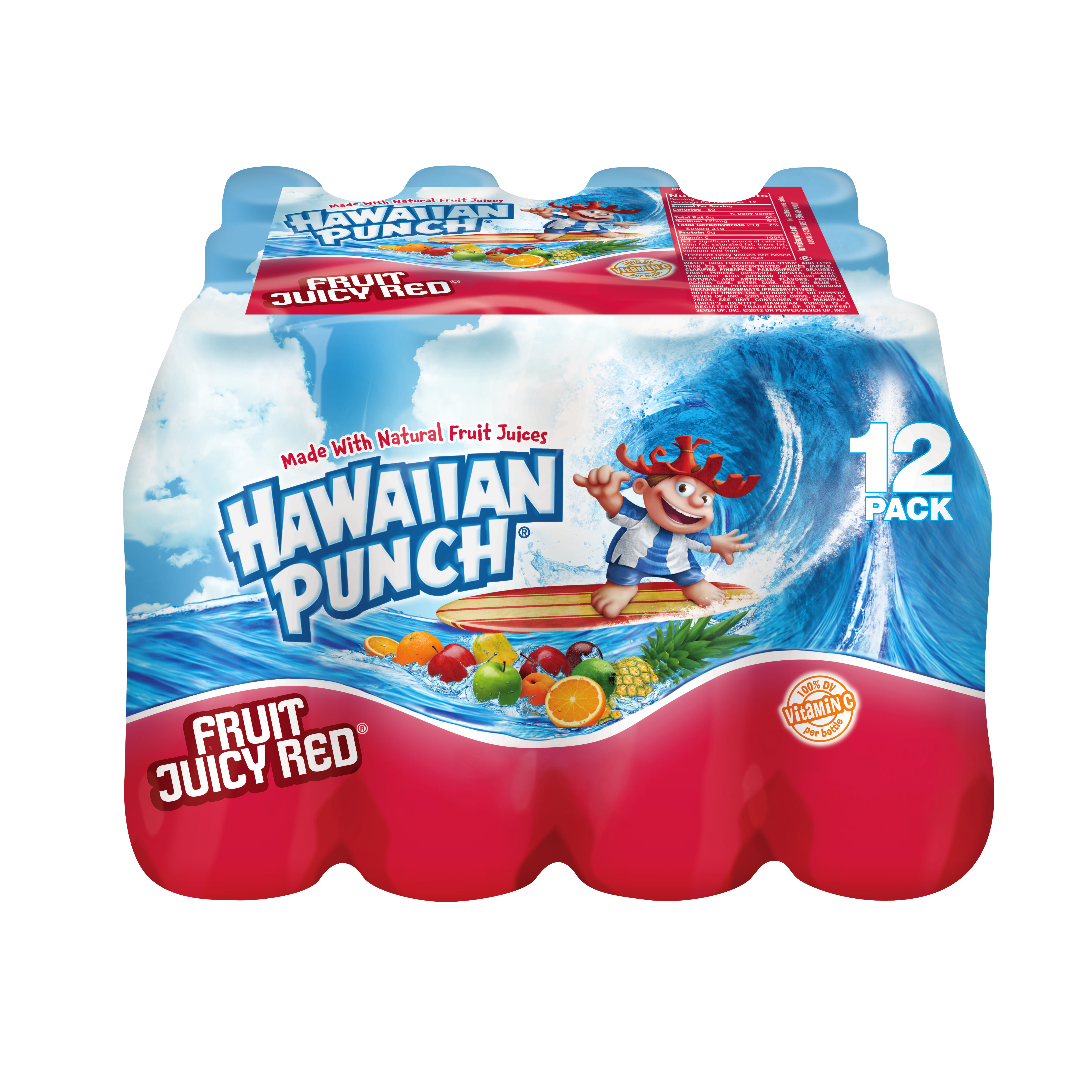 Hawaiian Punch Fruit Juicy Red Drink, 10 Fl. Oz., 12 Count