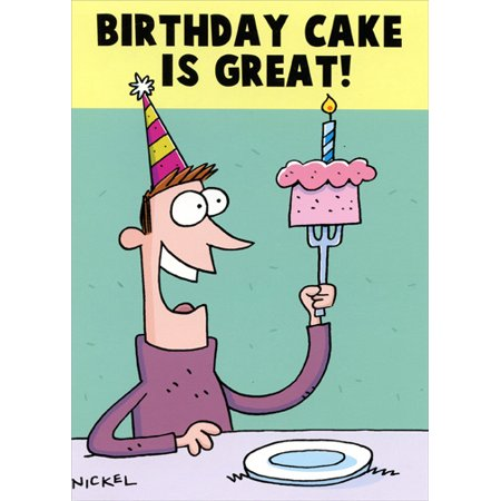 Oatmeal Studios Birthday Cake Is Great Funny Masculine Card