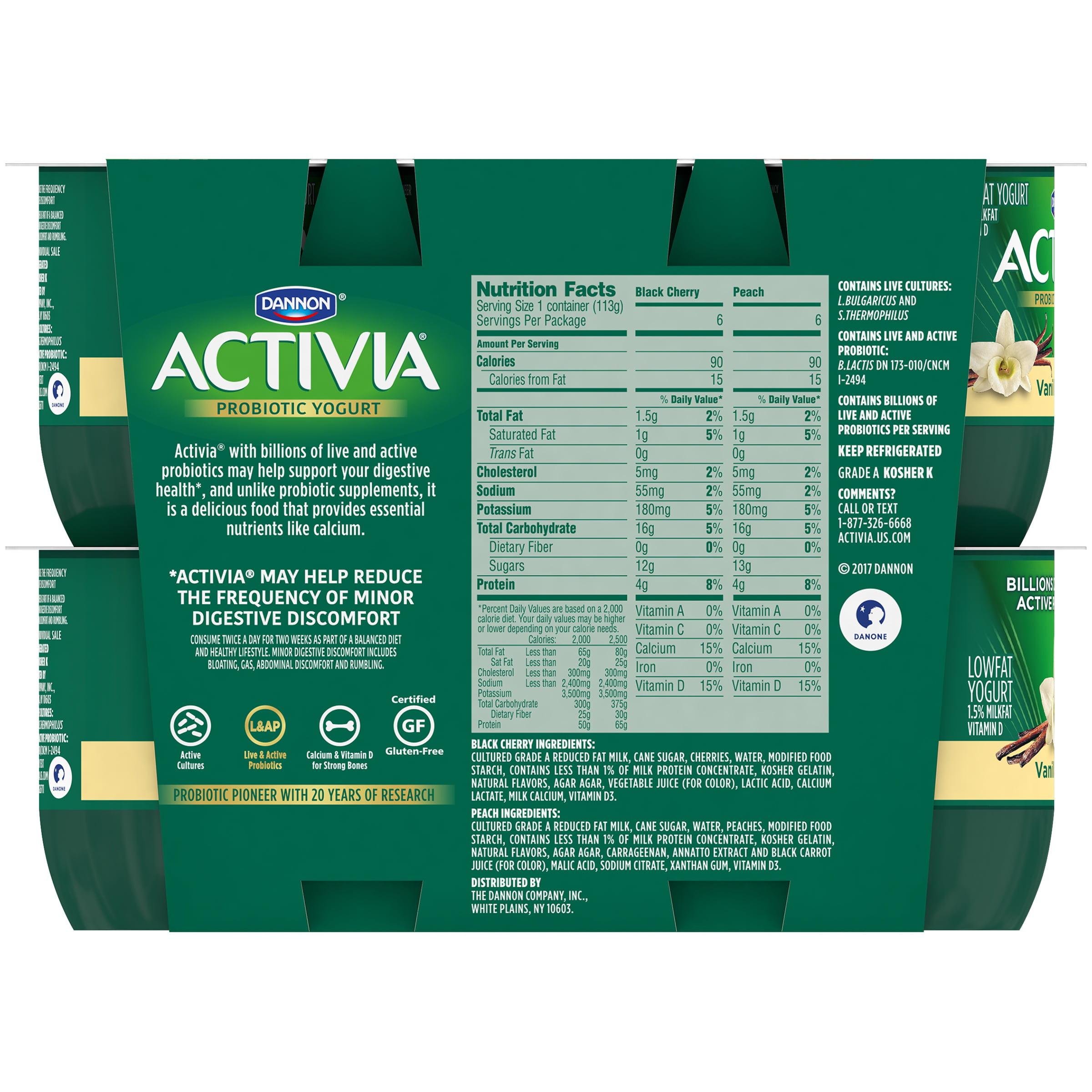 Activia Nutrition Facts Vanilla Besto Blog