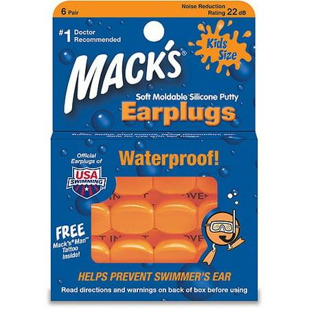 Flight Ear Plugs ((2 pack) Mack's Pillow Soft Ear Plugs - Kid Size )
