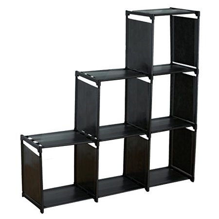 sodynee 3 tier storage cube closet organizer shelf cabinet bookcase 6 cube organizer cabinet. Black Bedroom Furniture Sets. Home Design Ideas