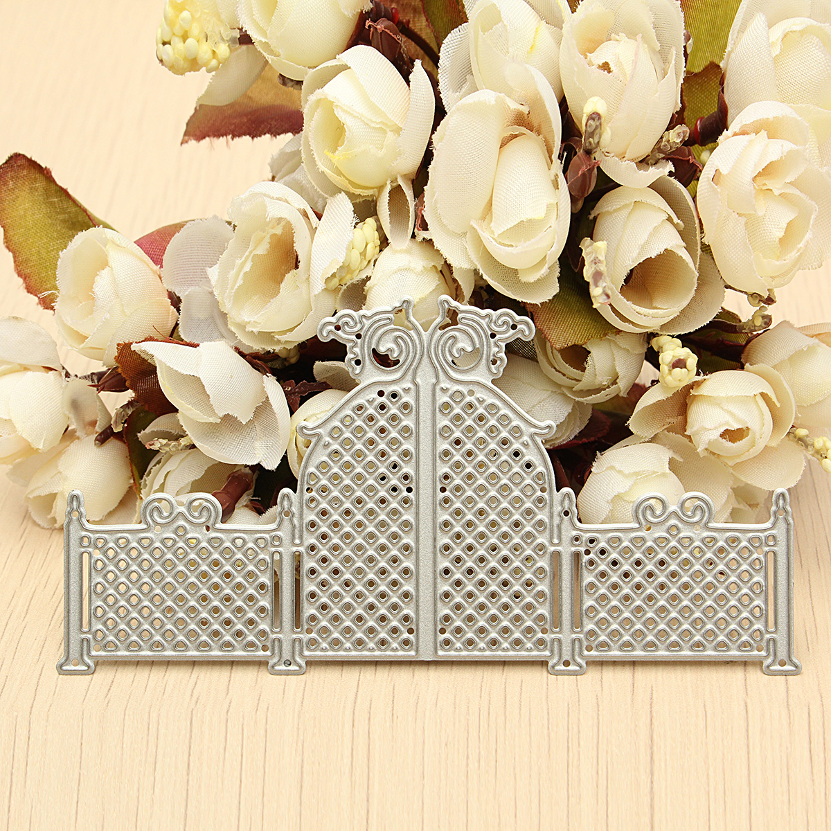 Hollow Door Pattern Metal Cutting Dies Stencil DIY Scrapbook Card Album S7