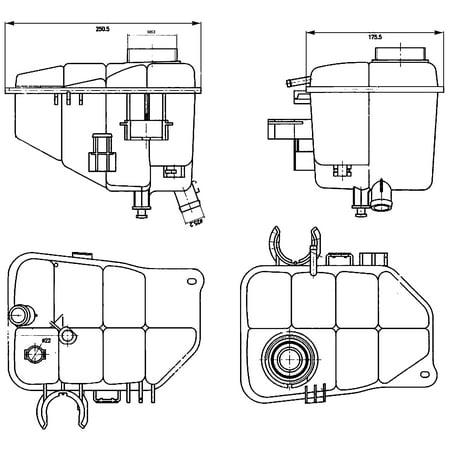 Hella Behr 376755221 Engine Coolant Reservoir for Mercedes