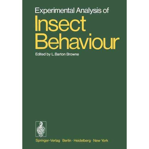 Experimental Analysis of Insect Behaviour