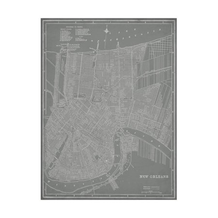 City Map of New Orleans Print Wall Art By Vision Studio