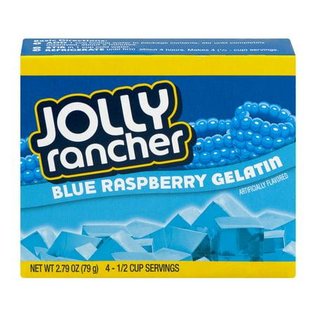 (4 Pack) Jolly Rancher Blue Raspberry Gelatin Mix, 2.79