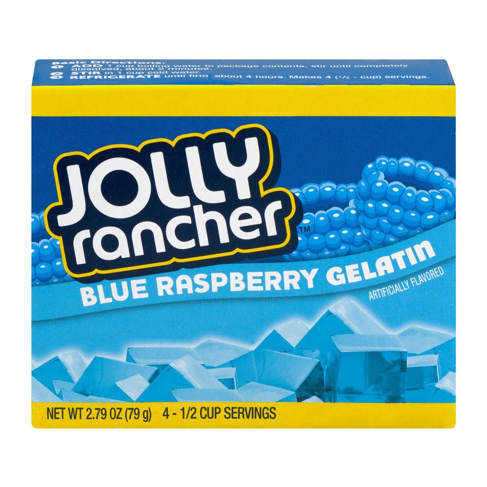 (4 Pack) Jolly Rancher Blue Raspberry Gelatin Mix, 2.79 oz