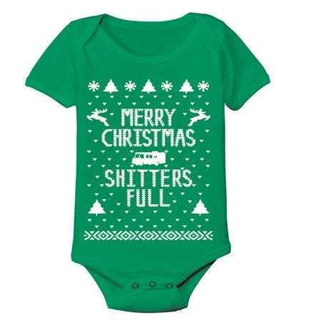 Merry Sh*Tters Full Baby New Born Green Baby One Piece (Baby Sh)