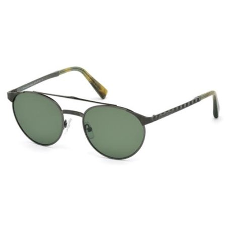 - ERMENEGILDO ZEGNA Sunglasses EZ0026 08N Shiny Gunmetal 52MM