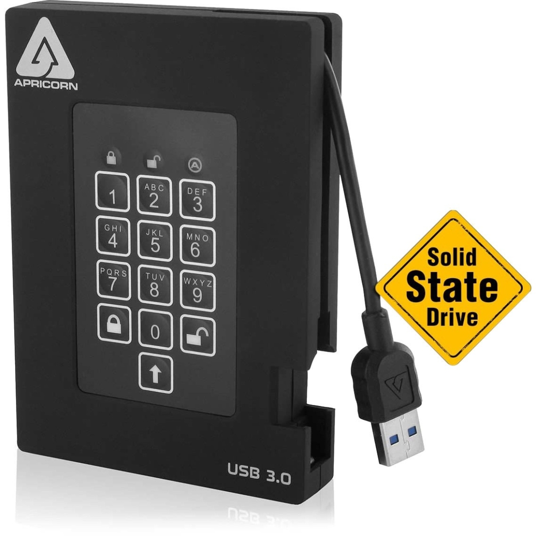 Apricorn 4TB FIPS VALIDATED AEGIS PADLOCK SSD USB 3 HW EN...