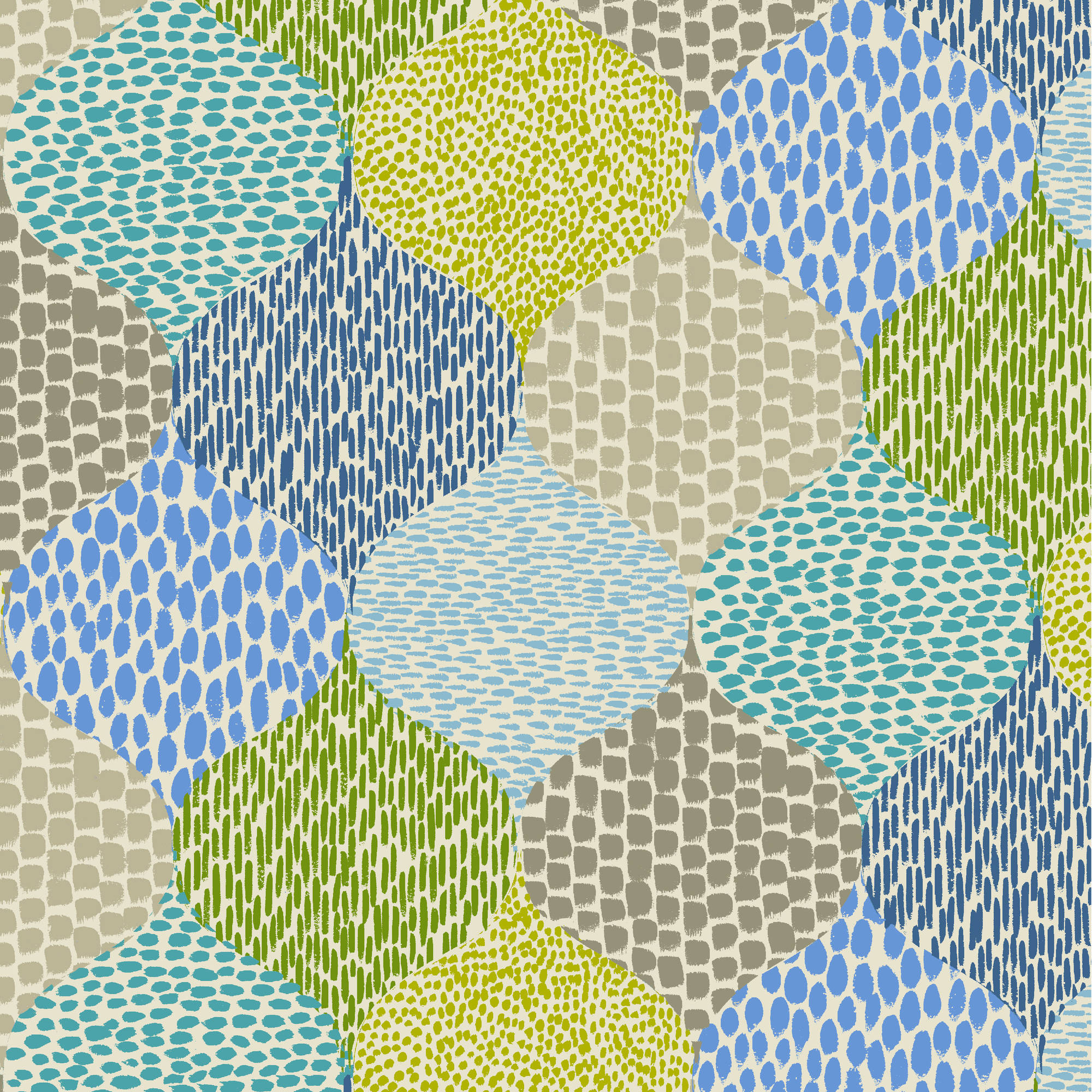 "Waverly Inspirations Cotton Duck 45"" Teardrop Azul Fabric, per Yard"