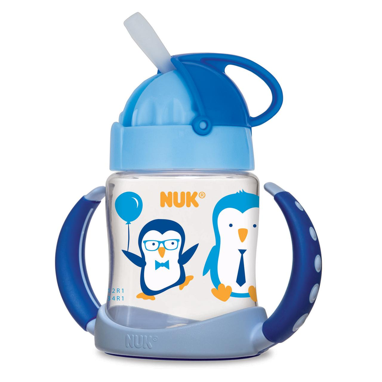 NUK Straw Learner Cup 6+m, 1.0 CT (Design May Vary) by Nuk