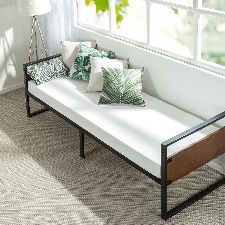 Zinus Ironline 30 Day Bed Frame And Foam Mattress Set Walmart Com