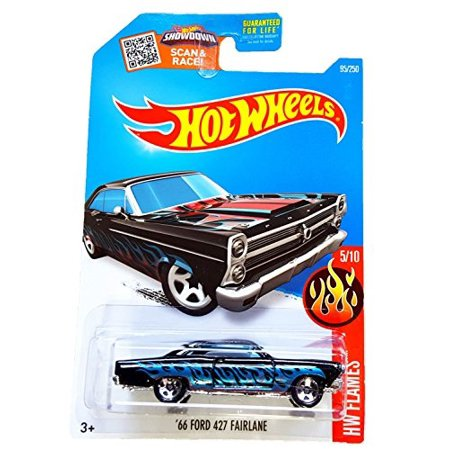 Hot Wheels 2016 HW Flames '66 Ford 427 Fairlane 95/250, Black ()