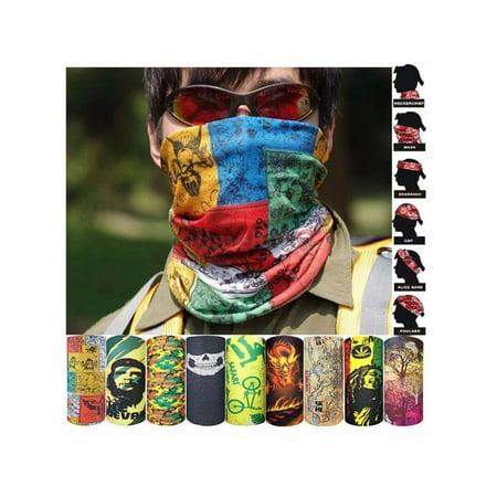 Multi Colors Tube Scarf Bandana Head Face Mask Neck Gaiter Snood Headwear Beanie (Head Tube Gaiter)
