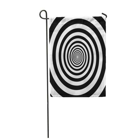 SIDONKU Hypnotic Circles Abstract Optical Spiral Swirl Hypnotize Circular Pattern Garden Flag Decorative Flag House Banner 28x40 inch - Hypnotizing Swirl