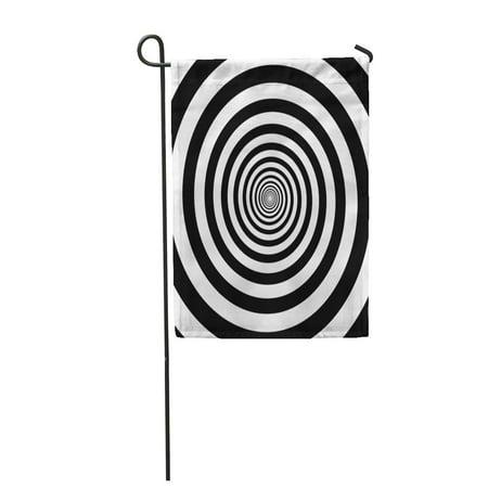 JSDART Hypnotic Circles Abstract Optical Spiral Swirl Hypnotize Circular Pattern Garden Flag Decorative Flag House Banner 28x40 inch - image 1 de 1