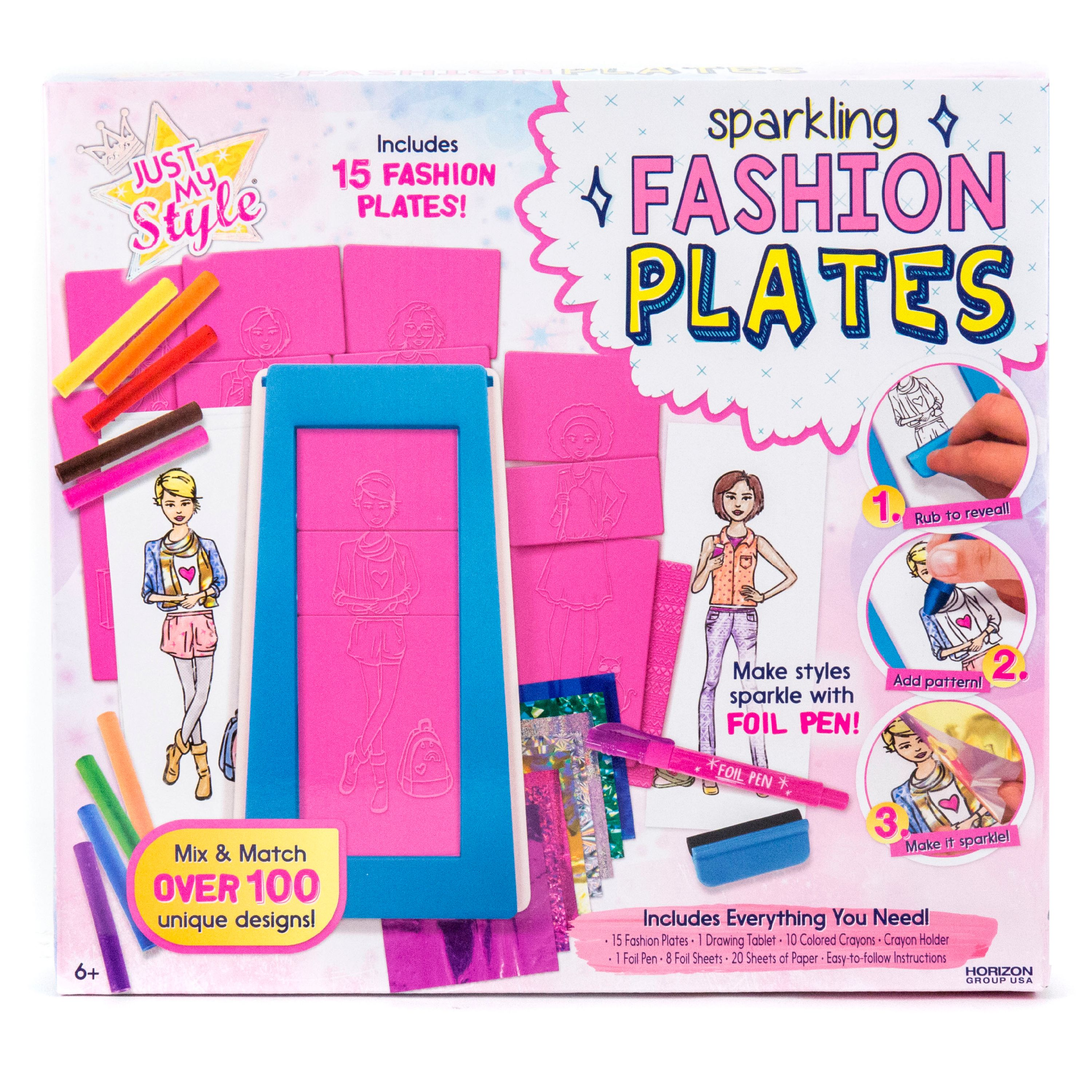 Just My Style Sparkling Fashion Plates, 1 Each