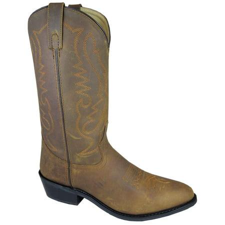Smoky Mountain Men's Denver Brown Oil Distress Western Boots 4034
