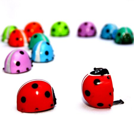 Dazzling Toys Flipping Wind-up Lady Bugs - 6 Pack - Bulk. Great for parties and Favor bags