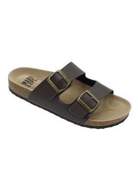 d379c89eb6c Product Image 1Lloyd-05 Men Double Buckle Straps Sandals Flip Flop Platform  Footbed Sandals Brown 8.5