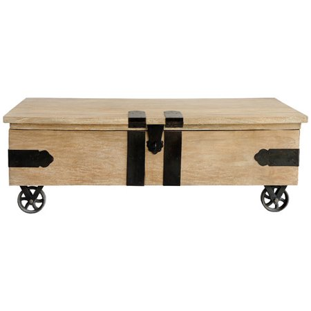 casual elements utility trunk coffee table with lift top. Black Bedroom Furniture Sets. Home Design Ideas
