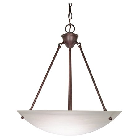 Alabaster Bowl Light - Nuvo Lighting 60371 - 3 Light (Medium Screw Base) 22.5