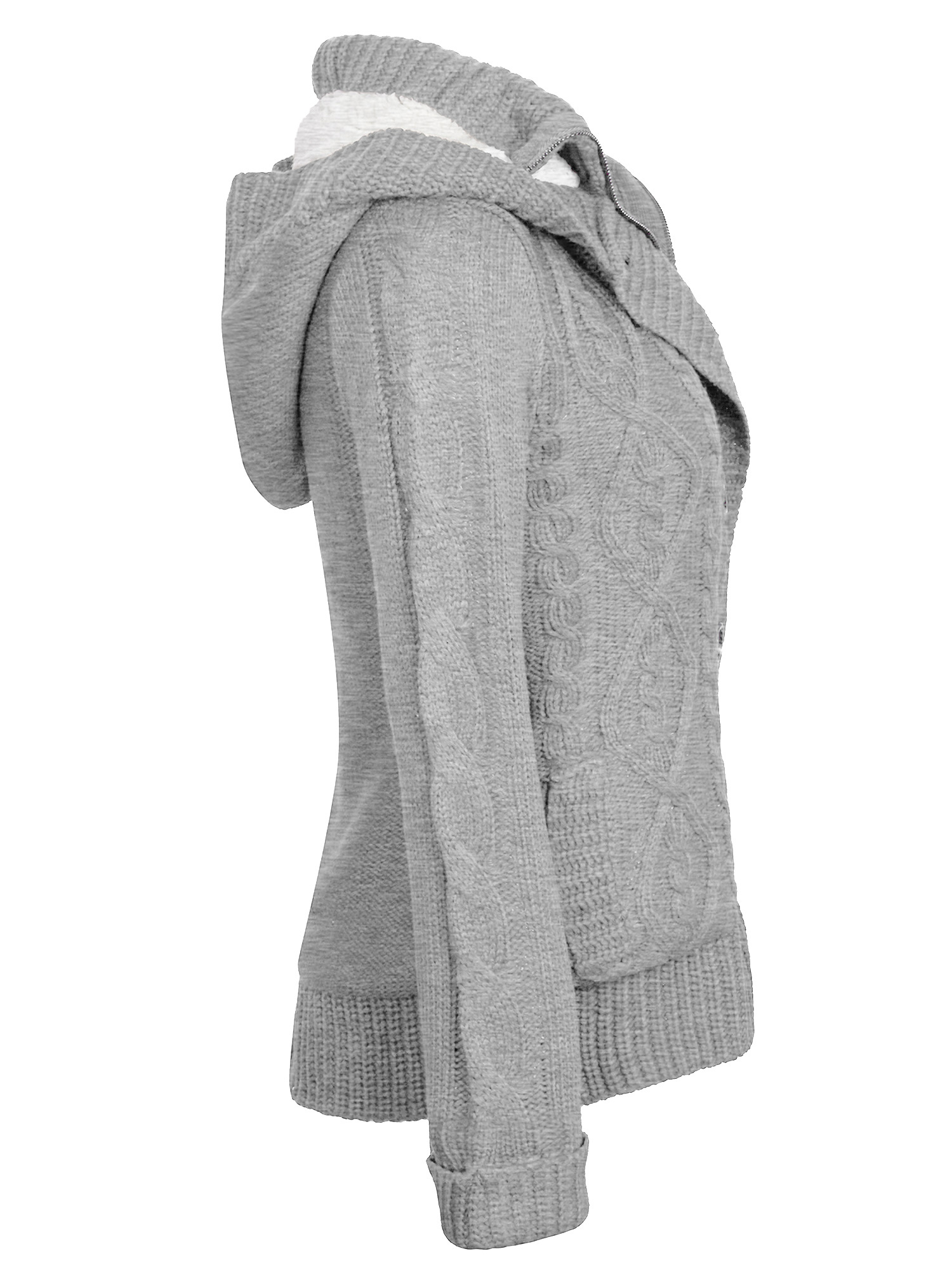 94dccea078f KOGMO Womens Cable Knit Sweater Cardigans with Buttons & Zipper & Hoodie