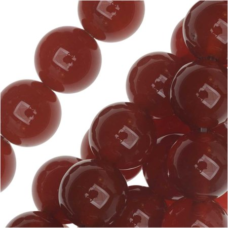 Agate 2 Strands - Agate Gemstone Beads, Round 10mm, 15 Inch Strand, Carnelian Red