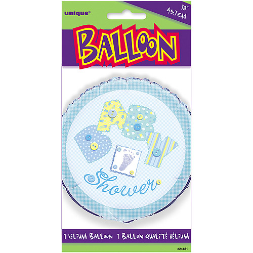 """18"""" Foil Blue Stitching Baby Shower Ball"""