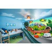 Startonight Mural Wall Art Kids World Illuminated Children Wallpaper Photo 5 Stars Gift Large 10 x 28,82 ?? x 50,4 ?? Total 8?4?x 12'