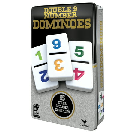 Double 9 Number Dominoes in Storage Tin (Dominos Numbered)