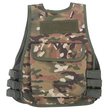 Awaymmer Children Camouflage Vest with Multi Pocket for Combat Outdoor Hunting Game, Kid Adjustable Vest, V-neckline Vest thumbnail