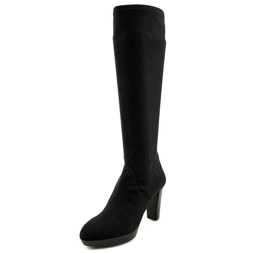 Click here to buy Donald J Pliner Enisa Women Round Toe Synthetic Black Knee High Boot by Donald J Pliner.