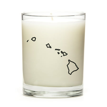 Made to Order Personalized and Custom Candles with the Map Outline of Hawaii State! Personal Gift at a Excellent Price. Premium Soy Wax, Perfect Gift! Luna Candle Co. - Lemon - Custom Candles