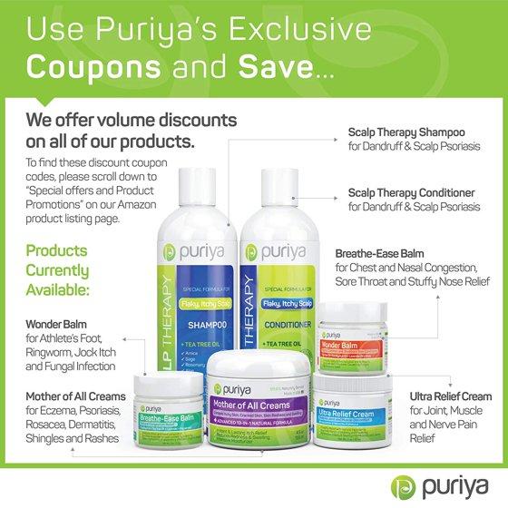 Puriya Cream For Eczema Psoriasis Rosacea Dermatitis Shingles