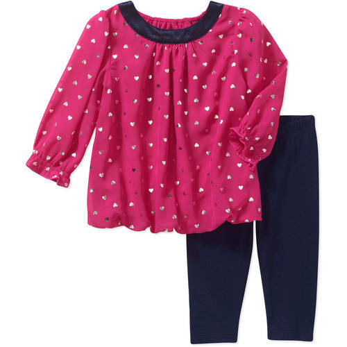 Healthtex Newborn Baby Girl Chiffon Legging 2 Piece Set