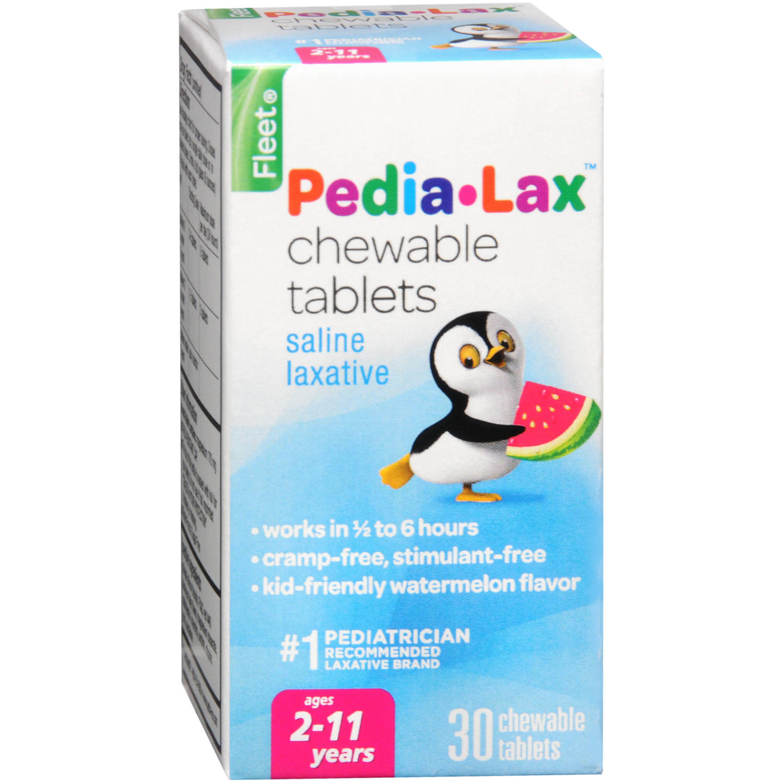 Fleet Pedia-Lax Chewable Tablets Saline Laxative - 30 CT