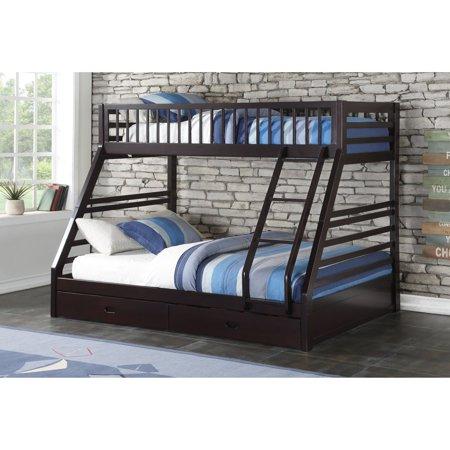 Acme Furniture Jason Espresso Twin Queen Bunk Bed