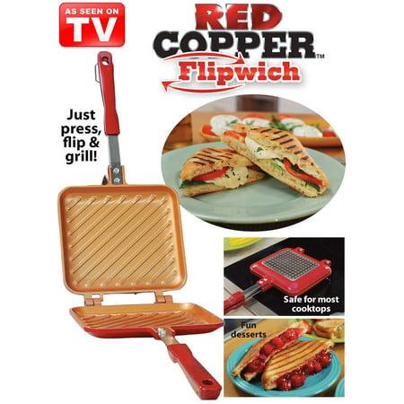as seen on tv red copper flipwich sandwich maker. Black Bedroom Furniture Sets. Home Design Ideas