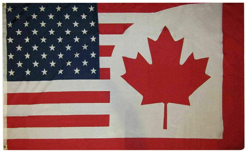 Canada USA Friendship FLAG 3x5FT COMBINATION United States America Canadian US