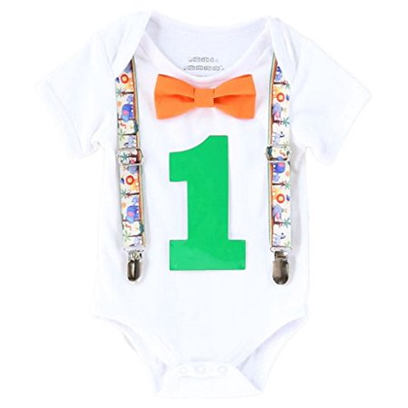 Noah's Boytique Baby Boys First Birthday Jungle Safari Theme Party Outfit 18-24 M Green](Greek Themed Outfits)