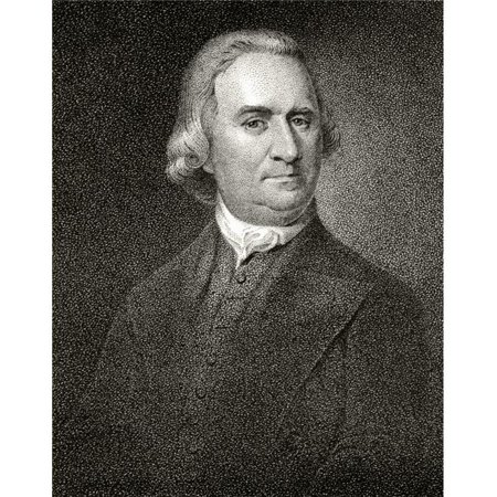 Posterazzi DPI1839633 Samuel Adams 1722 To 1803 American Statesman & Founding Father A Signatory of Declaration of Independence 19th Century Engraving by J.B. Longacre After A Painting by Copley Poste