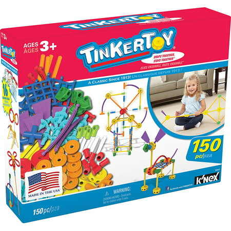 - TINKERTOY - Essentials Value Set - 150 Pieces - Ages 3 Preschool Educational Toy