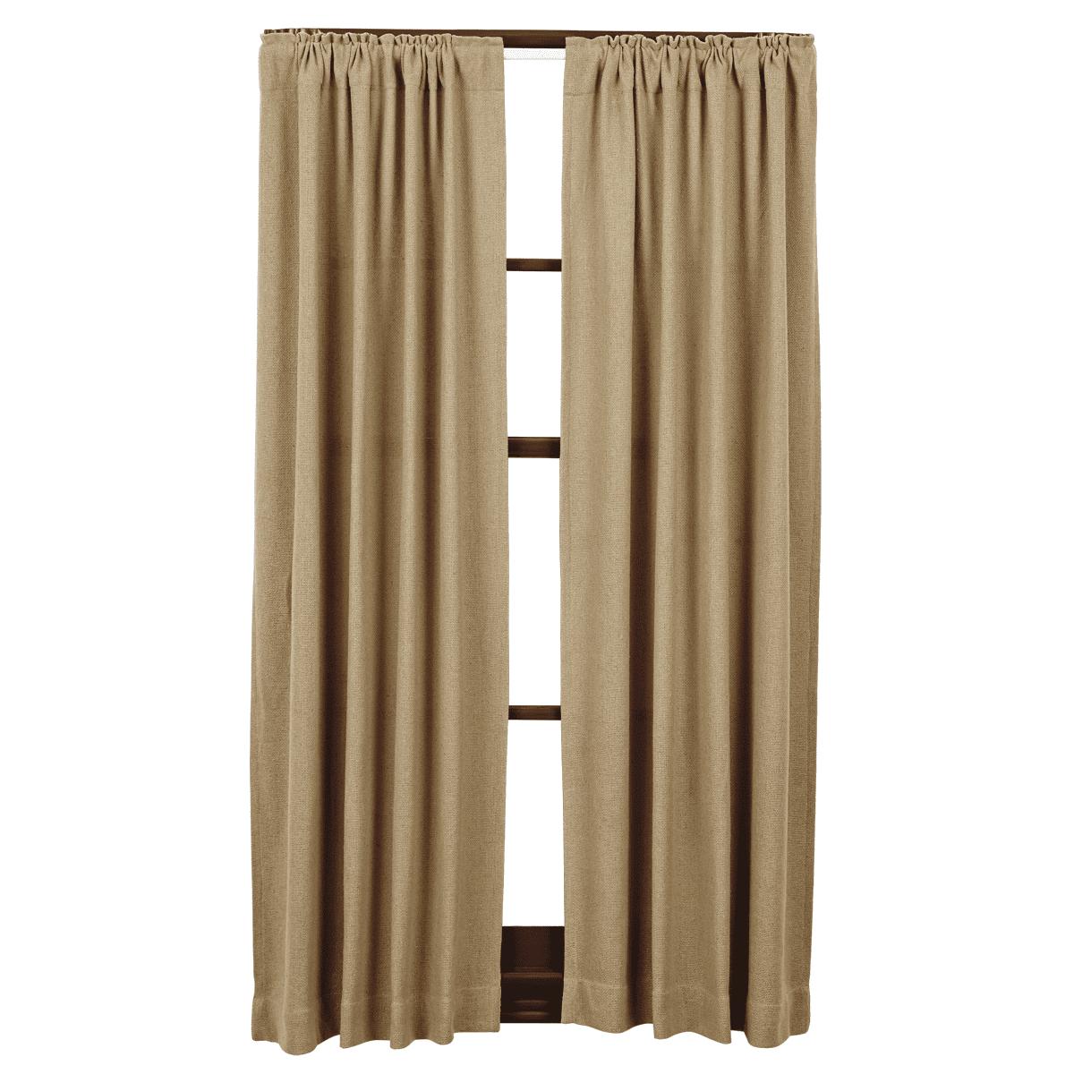 VHC Brands Burlap Curtain Panel (Set of 2)