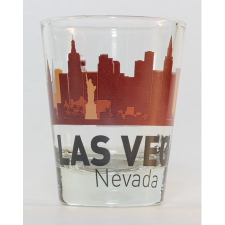Las Vegas Nevada Sunset Skyline Shot Glass (Las Vegas Shot Glass)