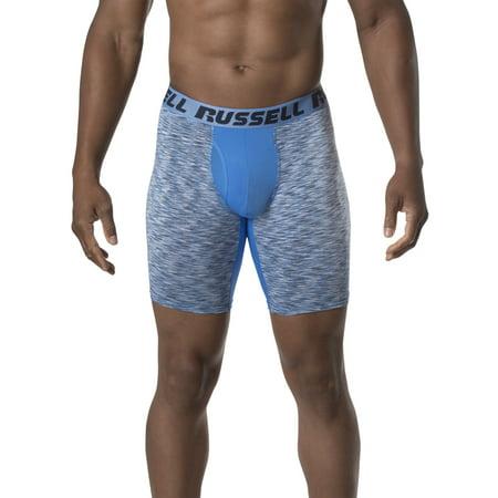 2 Pack Tartan Plaid Boxer - Men's Freshforce Assorted Color Long Leg Boxer Briefs, 2 Pack