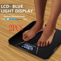 Ktaxon 2* New 396LB 180KG Electronic LCD Digital Bathroom Body Weight Scale W/ Battery