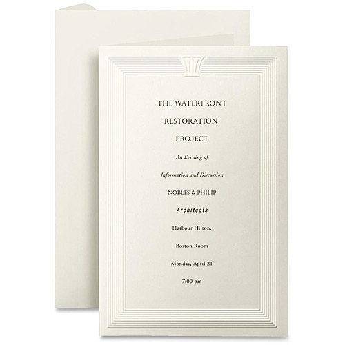First Base Overtures Embossed Invitation Cards